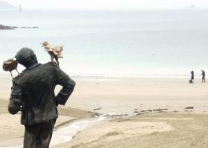 Hitchcock Statue at Dinard