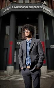 Richard Ayoade at Manchester's Cornerhouse. Photo by Cornerhouse.