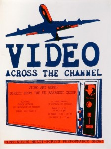 Poster for Basement Group video arts shows, 1982. © The Locus+ Archive